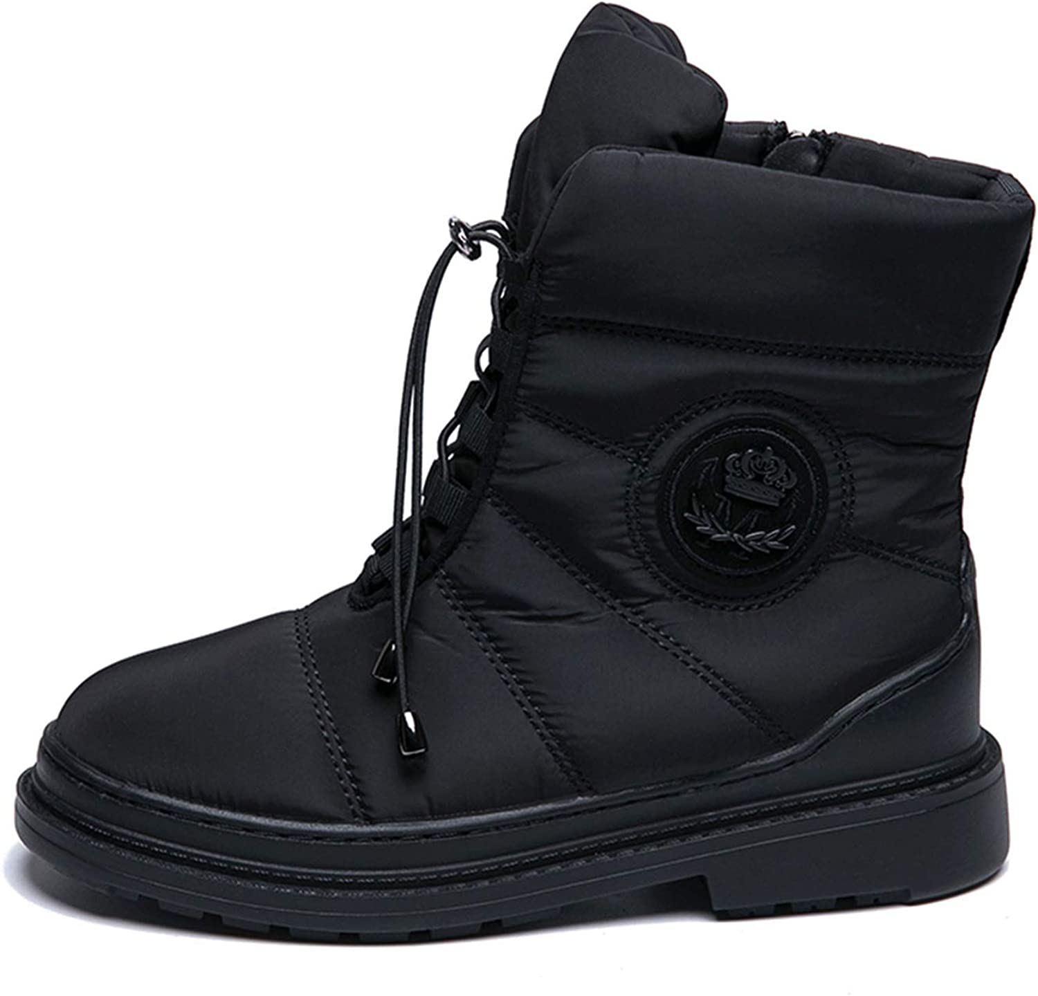 Together to create a miracle Warm Winter Women Boots mid-Calf Down Flats Boots Waterproof Snow Comfortable shoes Woman
