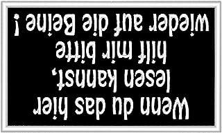 Aufnäher Patch: 'Wenn du das hier lesen kannst, hilf mir bitte auf die Beine!'
