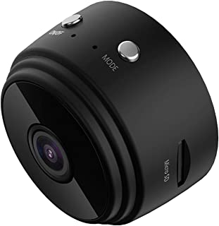 كاميرا صغيرة 1080P واي فاي للأمن المنزلي P2P رؤية ليلية كاميرا مراقبة لاسلكية جهاز تحكم عن بعد وتطبيق WNN (اللون: أسود)