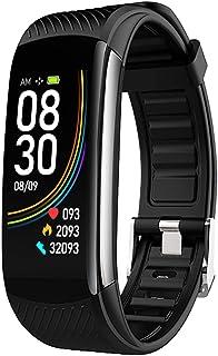Fitness Activity Tracker Smart Watch Reloj para hombres Mujeres, medidor de ejercicios Paso Distancia Distancia MEDICIÓN CORAZÓN CORAZÓN Presión arterial Blood Oxygen Sleep Pulsera inteligente,Negro
