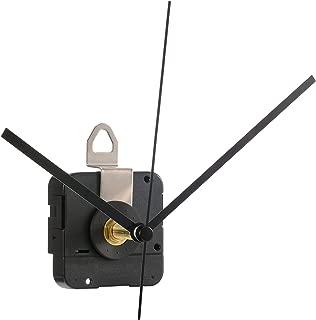 Hicarer 28 mm Long Shaft Quartz Clock Movement Clock Parts Repair Kit (Black)