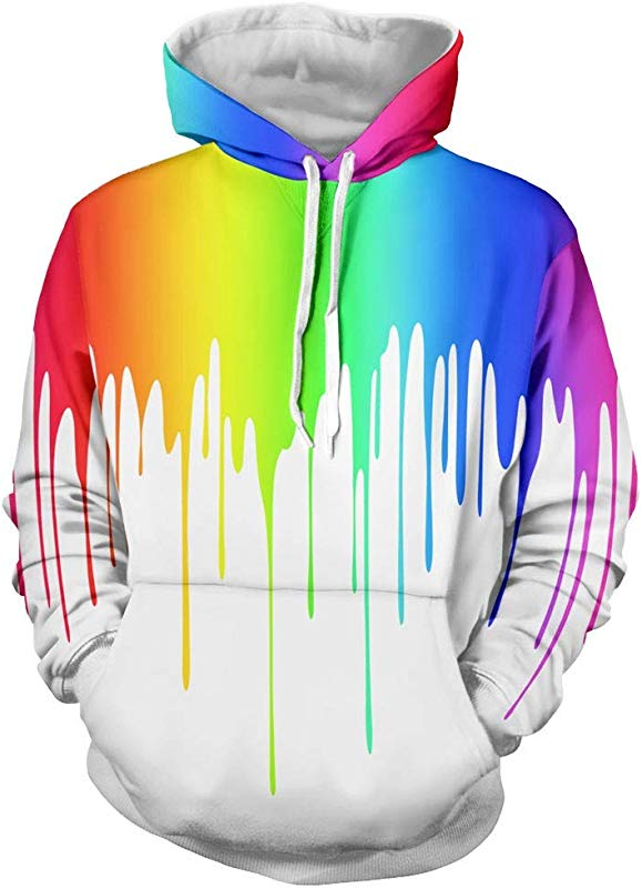 AcisuHu New Unisex Hoodies 3D Graphic Print Paint Casual Long Sleeve Hoodie Pullover Sweatshirt Hooded Sweater Autumn