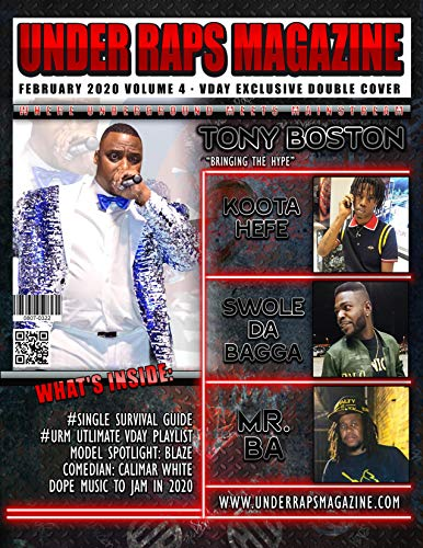 Under Raps Magazine Vol 4 Featuring Tony Boston: (Double Cover Exclusive) (English Edition)