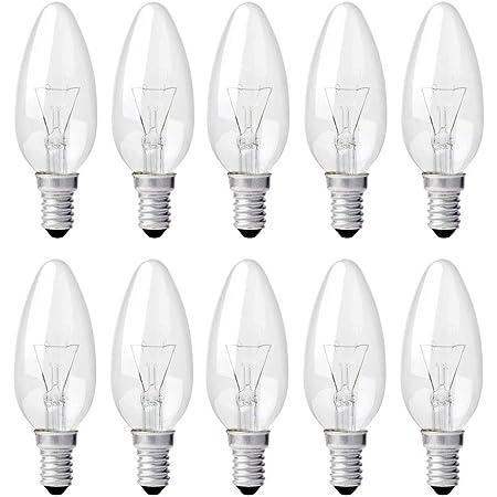 Kerze Lampe 25W E14-10 x farbige Qual 25 Watt gelb bunte Illu Glühlampen