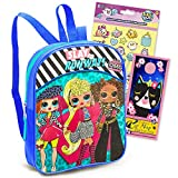 Surprise! LOL Dolls Mini Backpack Bundle LOL Dolls Activity Set - Premium 11 inch LOL Dolls Backpack for Girls Toddlers with Pikmi Pop Stickers (LOL Dolls School Supplies)