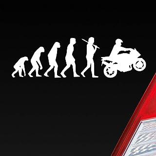Auto Aufkleber in deiner Wunschfarbe Evolution Motorrad Mopped Bike Dub OEM 15x4,5cm Autoaufkleber Sticker Folie