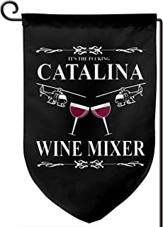 ZBGIGB Catalina Wine Mixer Home Flag Outdoor Garden Flags Decorative 12.5x18 Inch Pattern Double-Sided Printing Ensign