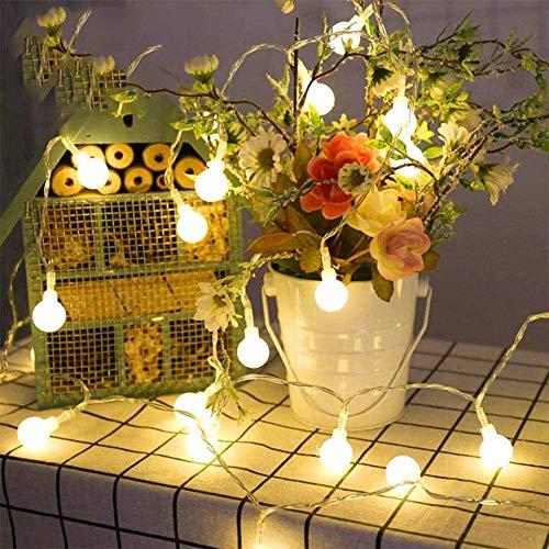 Silingsan Guirnalda Luces, 10M 100 LED Cadena de Luces 8 Modos con Energía Iluminación Temporizador Regulable, Decoracion para Navidad Fiesta Bodas Patio Jardines Festival Interior Exterior