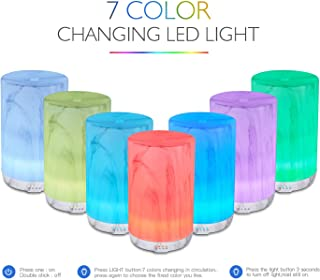 Art Glass Aromatherapy Essential Diffuser,Humidifier,Ultrasonic Quiet,Cool Mist,Adjustable Time Setting,Color Light Changing,Waterless Auto Off,for Baby,Home,Office,Yoga,Birthday,Gift,Decorative