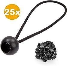 PRETEX 25 elastici di fissaggio per tende, teloni, elastici con sfera supporto elastico per fissare pannelli, padiglioni, cartelli, elastici universali