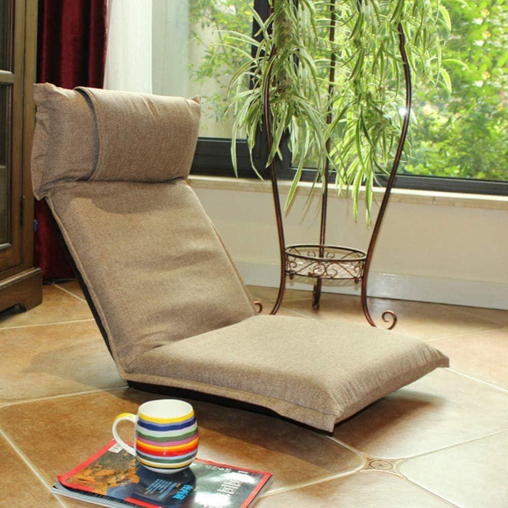 LCAZR Chaise Tatami Japonaise Assise au Sol Pliante Chaise de méditation réglable rembourrée E