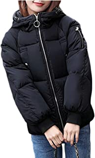 maweisong 女性のフード付きのパンが厚く冬のルーズパフジャケット