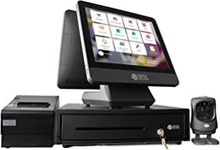 NRS POS System Bundle - Includes Cash Register Drawer, Touchscreen, Customer Display, Barcode Scanner, Receipt Printer & Point of Sale Software