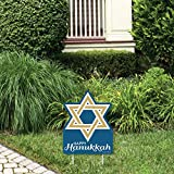 Big Dot of Happiness Happy Hanukkah - Outdoor Lawn Sign - Chanukah Holiday Party Yard Sign - 1 Piece