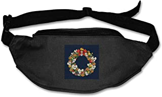 Fanny Pack For Women Men Christmas Multiface Wreath Danger Mouse Waist Bag Pouch Travel Pocket Wallet Bum Bag For Running Cycling Hiking Workout