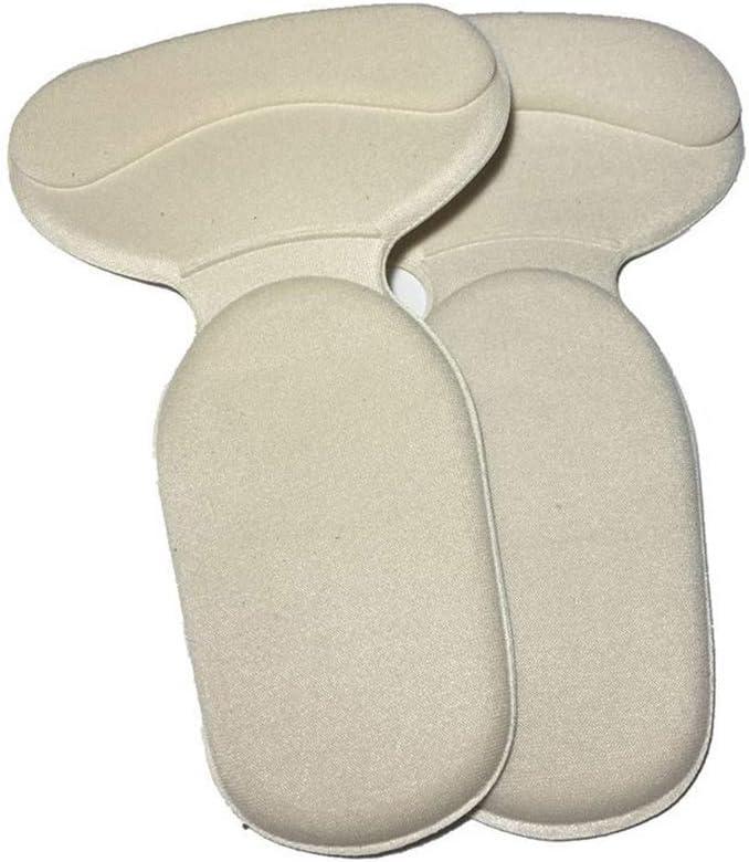 ZMMDD 1 par de Plantillas ortopédicas a estrenar en Forma de T de Silicona Antideslizante Cojín Protector del talón del pie Forro de Plantillas de Zapatos (Color : Beige)