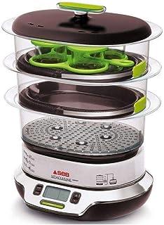 comprar comparacion Seb VS404300 Vitacuisine Compact Vaporera sin BPA, potencia de 1800 W, capacidad de 10.3 L, color negro y cromo