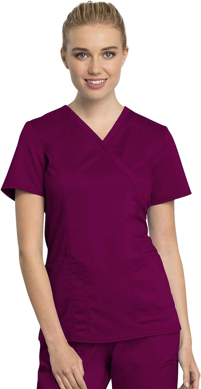 Workwear Revolution Brand Cheap Sale Venue Tech Phoenix Mall Women Scrubs WW775AB Wrap Mock Top