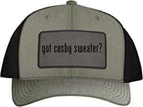 One Legging it Around got Cosby Sweater? - Leather Grey Patch Engraved Trucker Hat