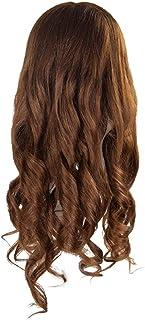Solustre Mannequin Head Human Hair Hairdresser Cosmetology Mannequin Manikin Training Head Hair and Free Clamp Holder Hair...