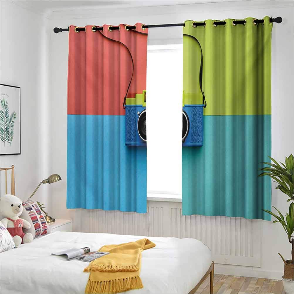 Pastel Kid's Room Draperies Retro Year-end Luxury goods annual account Style on Film Fashion C Camera