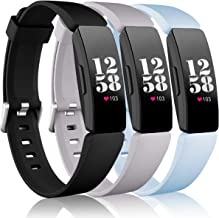 Wepro Bands Replacement Compatible with Fitbit Inspire HR/Inspire/Inspire 2/Ace 2 Fitness Tracker for Women Men, 3-Pack, S...