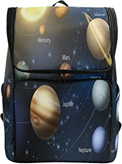 School Bags Rucksack for Student College Girls Boys Woman Men Travel Hiking Camping Laptop Lake Casual Daypack Cosmic Space Solar System Computer Backpack