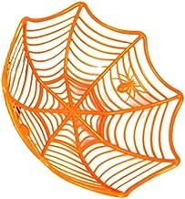 Yisily Halloween S/ü/ßigkeit-Kasten kreative Spinnennetz Kunststoff S/ü/ßigkeiten Korb dekorativer Tisch S/ü/ßigkeiten Obst-Speicher-Halter f/ür Halloween-Dekoration orange