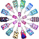 Hand Sanitizer Holders, Shynek 40pcs Empty Travel Size Bottle and Keychain Holders Set Include 20pcs Flip Cap Reusable Bottles, 20pcs Reusable Bottles Keychain Carriers for Hand Sanitizer