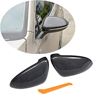 MCARCAR KIT Mirror Cover fits Volkswagen VW Golf VII MK7/MK7.5 GTI R Hatchback 2014-2019 Replacement Carbon Fiber Rearview Side Rearview Mirror Caps Car Exterior Outside Shell (A Style)