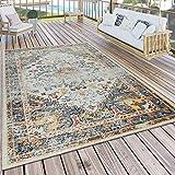 Paco Home Alfombra Orient, Colorido, Balcón, Terraza, Diseño Vintage, Duradero, tamaño:60x100 cm