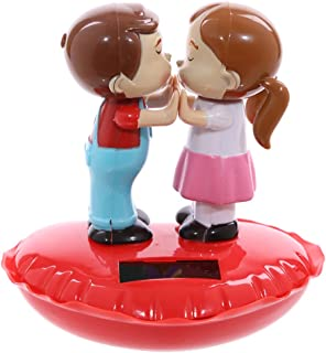 Cute Children Kissing On A Heart Solar Pal Novelty Solar Powered Moving Toy