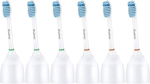 Brushmo Sensitive Replacement Toothbrush Heads for Philips Sonicare e-Series HX7052, 2 Pack