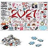 Puzzle 1000 Piezas Adultos-Rompecabezas Adultos-Personalizado con Tu Foto para día de San Valentín-Puzzle Adultos para Ejercitar la Lógica y la Coordinación Sensorial