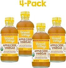 Vermont Village Organic Apple Cider Sipping Vinegar (Ginger & Honey), Pack of 4