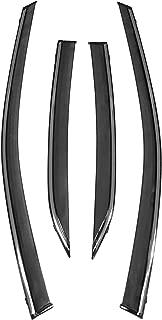 biosp Vent Visor For Toyota Camry 8th gen 2018 2019 Rain Sun Shade Window Deflectors Shield Wind Guard Side-Custom Fit 4 Pcs Set Smoke Gray