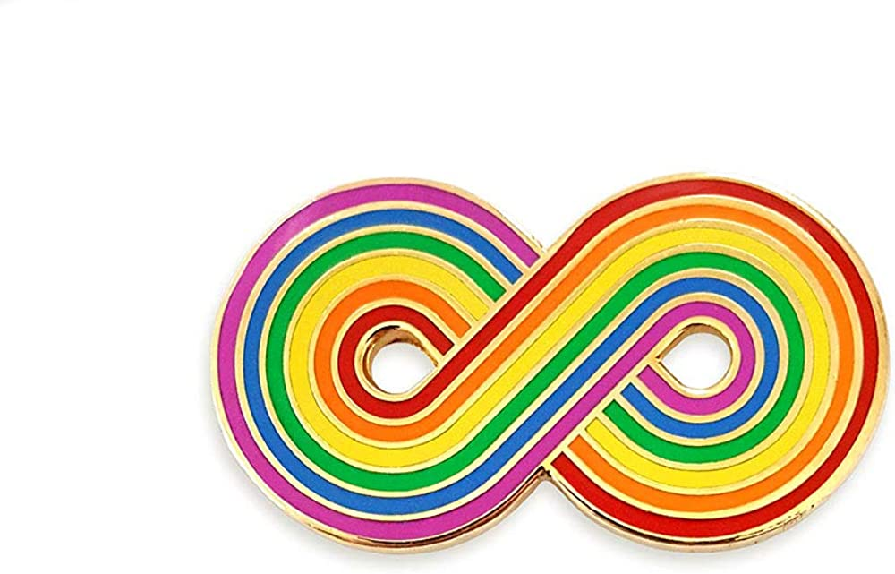 Pinsanity Infinity Rainbow Lapel Enamel Challenge the lowest price Pin Time sale