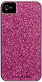 girly hot pink glitter iphone case