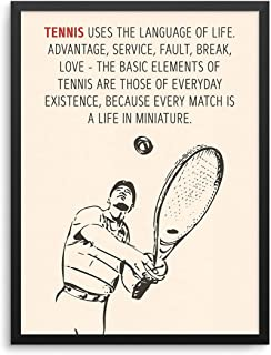 Andre Agassi Tennis Quote Poster Tennis Uses The Language of Life Wall Art