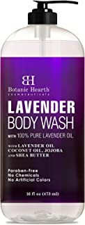BOTANIC HEARTH Lavender Body Wash for Women & Men and Shower Gel - with Peppermint Oil - Fights Acne, Soothes Eczema and D...