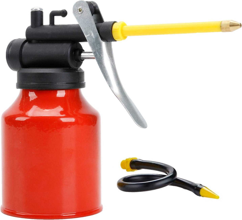 250ml Max 56% OFF Hand Oil Can Pump Oiler Flex 2 Spouts with Dallas Mall Straight