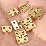 funnytoday3655x Mini Kleine Metall Scharnier mit Schrauben für 12Puppenhaus Miniatur Möbel