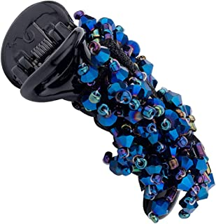 Voylla Beady Head Blue Cluster Hair Clip Jewellery for Women