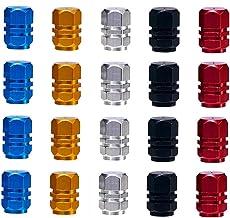 Bouchons de Valve,Bouchons de Soupape 20 Pack Anti-poussière Capuchons de Poussièree Alliage d'aluminium de Pneu pour Moto...