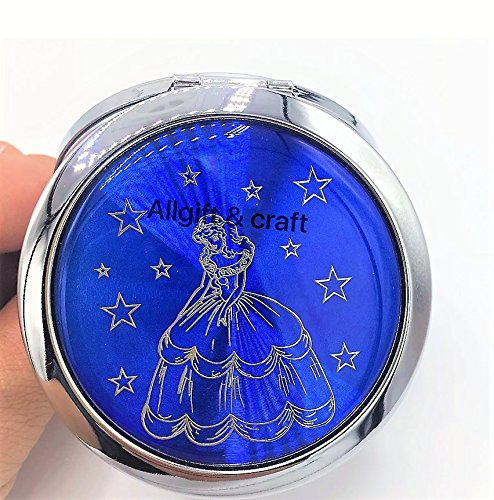 12pcs Quinceanera Favor Sweet 16 Party favors Recuerdos de Quinceanera Double Side Compact Mirror Dark Blue