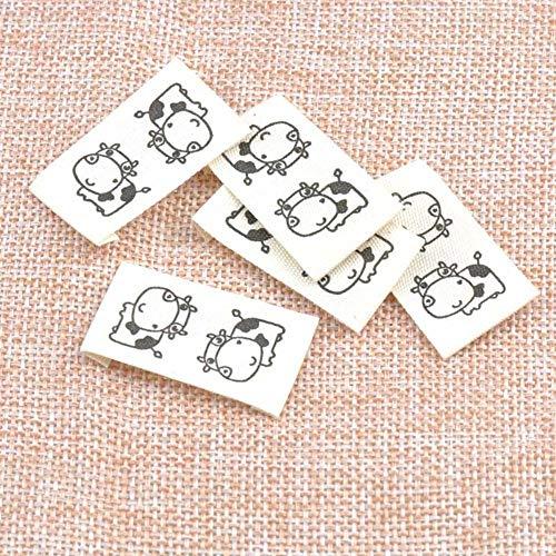 50 etiquetas tejidas de tela lavable para ropa, etiquetas de nombre y ropa, para coser en etiqueta plegable para colgar, personalizadas de 20 x 37 mm cp1528