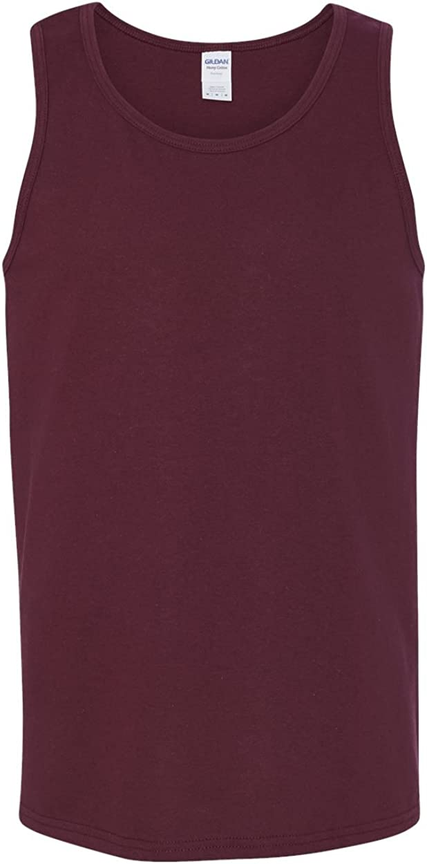 Heavy Cotton Tank Top (G520) Maroon, 2XL (Pack of 12)