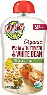 بهترین غذای کودک Stage 2 Organic Earth ، ماکارونی با گوجه فرنگی / لوبیای سفید با روغن زیتون ، 12 تعداد
