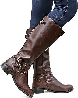Meilidress Womens Wide Calf Winter Cowgirl Boots Tall...