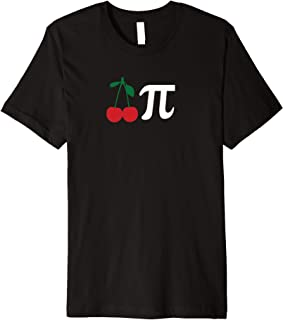 funny Cherry Pi Day Shirt March 14 Math Lover Science Gift Premium T-Shirt